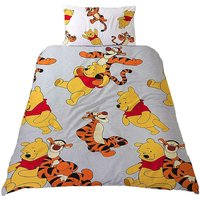 Friends Rotary Duvet Cover Set (Single) (Grey/White/Yellow) - Winnie The Pooh