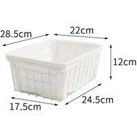 Wire Storage Basket Office Sundries Book Organizer Basket With / Liner - AUGIENB