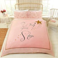 Wish Upon a Star - Pink - Duvet Cover Set - Double - RAPPORT
