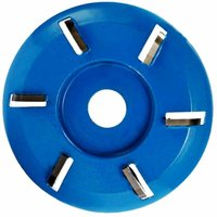 Wood Carving Disc, 90mm Milling Cutter 3/4/5/6 Turbo Carbide Carving Discs for Woodworking (6Teeth)