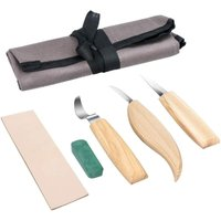 Wood carving tool set, Powcan 5-piece wood carving knife Wood carving knife set incl.bag, ideal carving tool set for spoon carving (1)