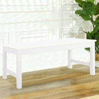 Wooden Bench Kitchen Dining Table Bench Stool Chair White
