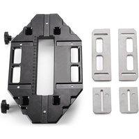 Wooden Door Hinge Hole Opener Hinge Positioning Slotter Multifunctional Hinge Lock Guide Plate Hole Opener with Spanner Bottom Cutter for