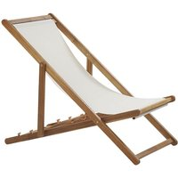 Beliani - Wooden Folding Deck Chair Light ANZIO