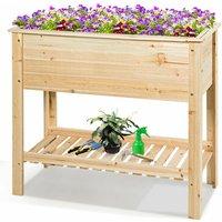 Wooden Garden Planter Planting Box Flower Planter Pot Raised Grow Bed