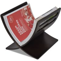 Wooden Magazine Rack Floor Standing Brown - Black