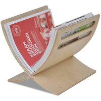 Wooden Magazine Rack Floor Standing Natural - Beige