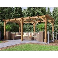 Wooden Pergola Garden Shade Plant Frame Furniture Kit - Arte