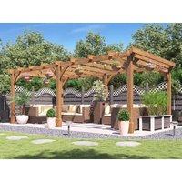 Wooden Pergola Garden Shade Plant Frame Furniture Kit - Atla
