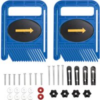 Woodworking Double Feather Loc Board Set Miter Gauge Slot T Track Woodwork Saw Table Fence DIY Safety Tools,model:Blue