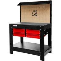 Work Bench Garage Tool Box Storage Diy Workshop Pegboard Holzmann Wt37 - HOLZMANN MASCHINEN