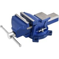 Work Bench Vice Vise Engineer Heavy Duty Cast Iron Fixed Base Jaws Workshop Span Width 200mm