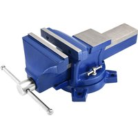 Work Bench Vice Vise Engineer Heavy Duty Cast Iron Fixed Base Jaws Workshop Span Width 150mm