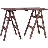 Zqyrlar - Writing Desk 116x55x80 cm Solid Reclaimed Wood - Brown