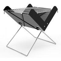 X-shaped small mini outdoor bbq grill, portable folding grill, black