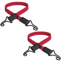 X2 MLK3224E Flat Bungee Cord Bike Pannier 60cm Red Double Hook Strap - Master Lock
