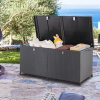 XXL Cushion Storage Support Box 150cm Black