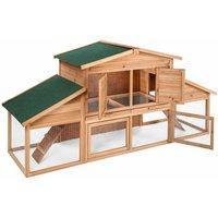 XXL hutch for small animals - brown - braun - TECTAKE