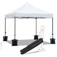 Tonnelle de Jardin Pliable 3x3m Gazebo Tente Pliante Imperméable Anti-UV Pavillon Pop-up Portable avec Sac de Transportable à Roulette et Sac de