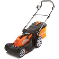 40V Li-Ion Cordless Battery Rotary Lawnmower with 37cm Cutting Width and Rear Roller - Yard Force