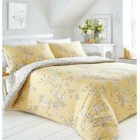 Bedmaker - Yasmina Ochre Single Duvet Cover Set Reversible Bedding Quilt Bed Set