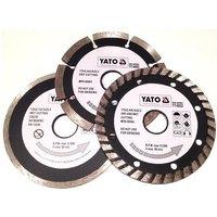 Yato professional diamond disc blade set 3 pcs 115 mm turbo segment tile cutter