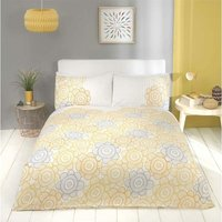 Scandi Sunflower Yellow Single Duvet Cover Set Bedding Bed Quilt Set