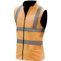 Mens Workwear Hi-Vis Reversible Fleece Vest / Jacket (3XL) (Hi Vis Orange) - Yoko