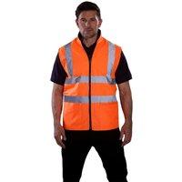 Yoko Mens Workwear Hi-Vis Reversible Fleece Vest / Jacket (Pack of 2) (L) (Hi-Vis Yellow)