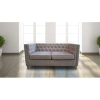 Designer Sofas 4 U - York Chesterfield Sofa Mink Fabric