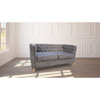 Designer Sofas 4 U - York Chesterfield Sofa Slate Grey Fabric