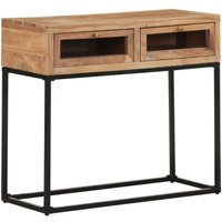 Console Table 90x35x76 cm Solid Acacia Wood - Youthup