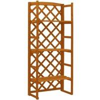 Garden Trellis Planter with Shelves Orange 60x30x140 cm Solid Firwood - Youthup