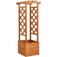 Trellis Planter with Arch 49x39x130 cm Firwood - Youthup