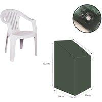 Stacking Chair Cover Heavy Duty Green Strong Waterproof Outdoor Garden UK - Yuzet