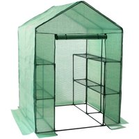 sheet greenhouse with 8 shelves, 195x143x143 cm, tomato house - Zelsius