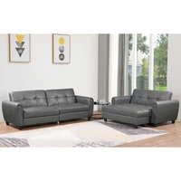 Zinc PU Leather 3STR Sofa Bed with Storage, 2STR Sofa Bed wi