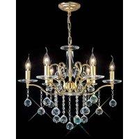 Zinta pendant light 6 Bulbs gold / crystal