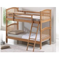 Wooden Bunk Bed, Single, Oak Finish