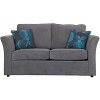Buoyant Newry Sofa Bed, 2 Seater Sofa Bed with Deluxe Mattress, Avalon Black, Grace Linen