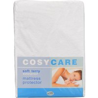 Cosycare Soft Terry Waterproof Mattress Protector, Double