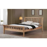 Flintshire Padeswood Hardwood Oak Finish Bed Frame, Double