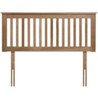 Flintshire Pentre Hardwood Headboard in Oak, Double