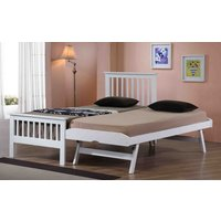 Flintshire Pentre Hardwood Guest Bed in White, Single