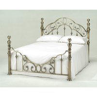 Florence Antique Brass Bed Frame, Double