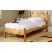 Friendship Mill Orlando Wooden Bed Frame, Single, 2 Side Drawers, High Foot End