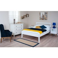 Silentnight Hayes White Wooden Bed Frame, Double