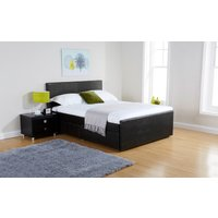 GFW Colorado Faux Leather Storage Bed, Double, Faux Leather - Brown