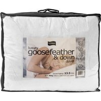 Luxury 13.5 Tog Hungarian Goosefeather and Down Duvet, Superking