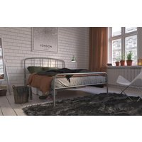 Hove Metal Bed Frame, Small Double, White